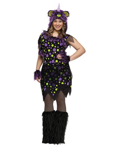 Purple People Eater Adult Womens Plus Size Costume HaLLoWeEn - halloween costume ideas plus size
