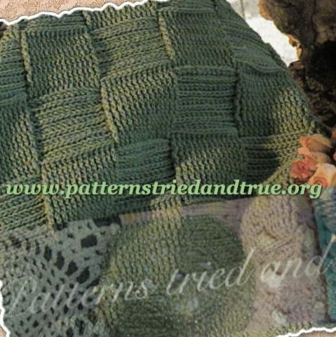 Afghan with woven look, Crochet Pattern DIY Scrapbooked Digital Instant Download PDF File