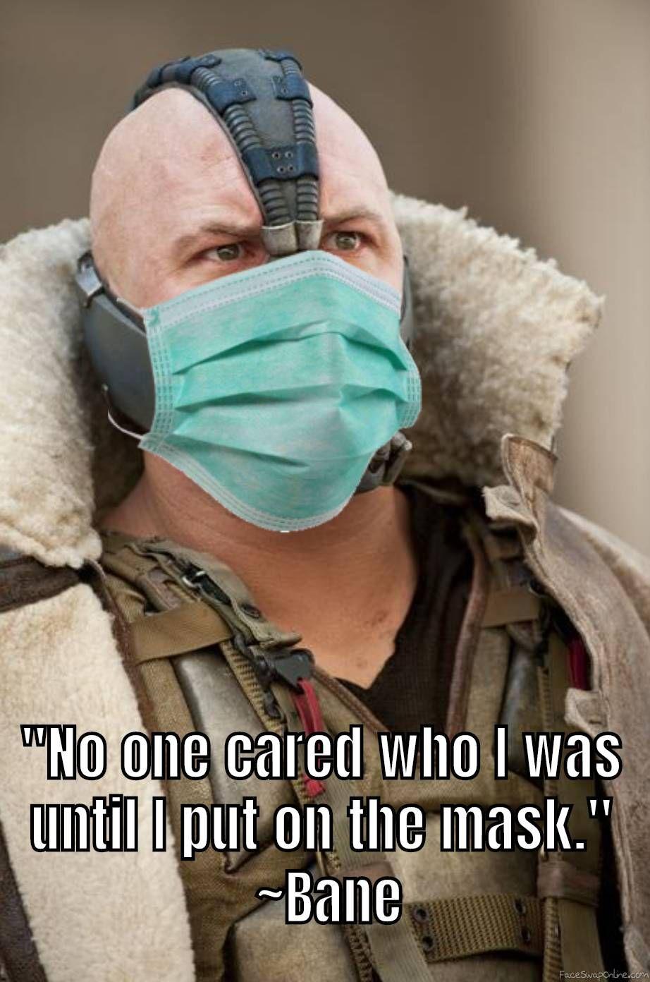 Bane Mask in 2020 Bane mask, Face swaps, Bane