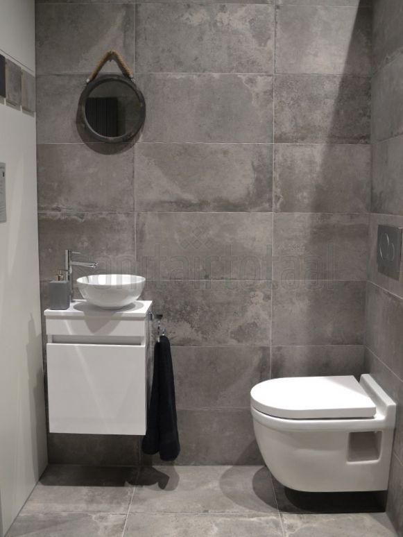 Betonlook badkamer, beton vloer, betonlook tegels, hout, wit, beton ...