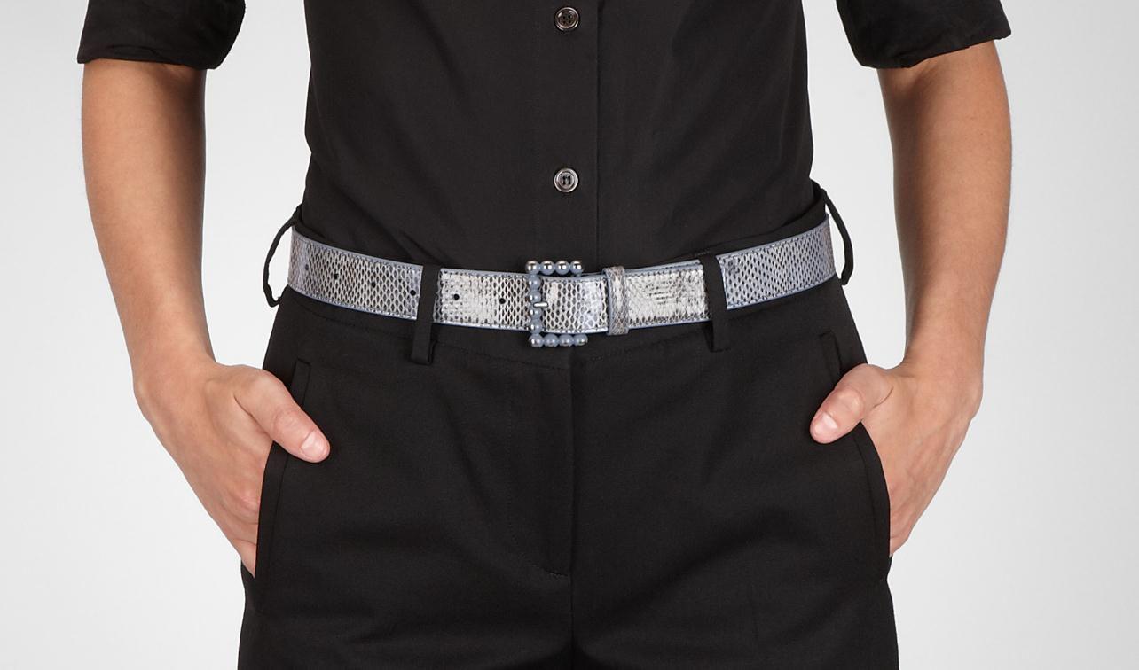 Bottega Veneta®|Cintura Krim in Ayers|Cintura|Accessori