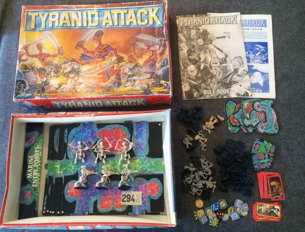 Warhammer 40k Tyranid Attack board game Complete Games
