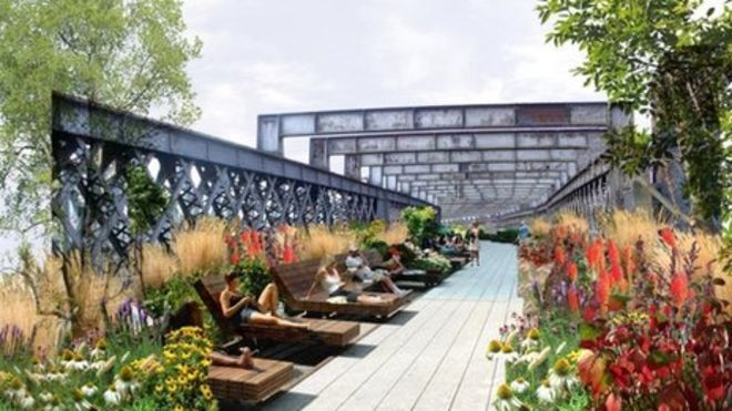 BDP ideas for Castlefield listed viaduct park in ...