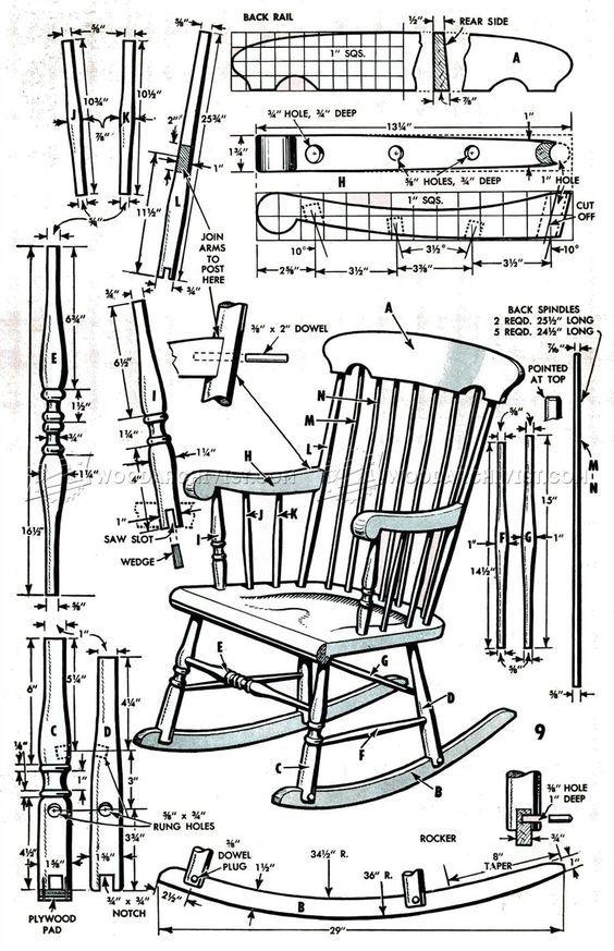 799 Boston Rocking Chair Plans Furniture Plans Chairclassic