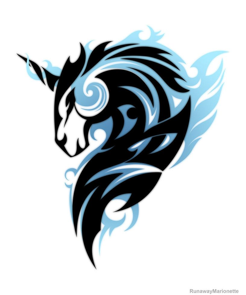 Mystic Unicorn Unicorn Tattoo Designs Unicorn Tattoos Unicorn Art