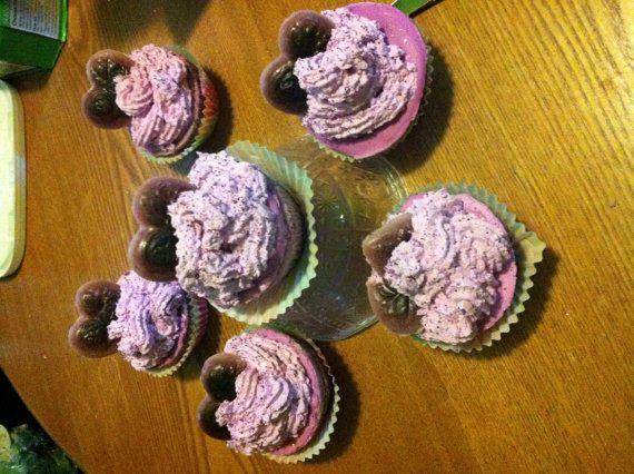 Purple Rain Lavender CupCake Shape and by XzotikaWorldBaskets
