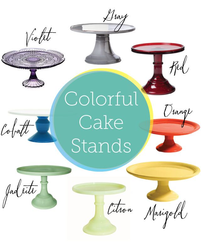 A rainbow of cake stands from The Sweetest Occasion  sc 1 st  Pinterest & Pretty Little Things: Cake Stands | Cake and Wedding cake