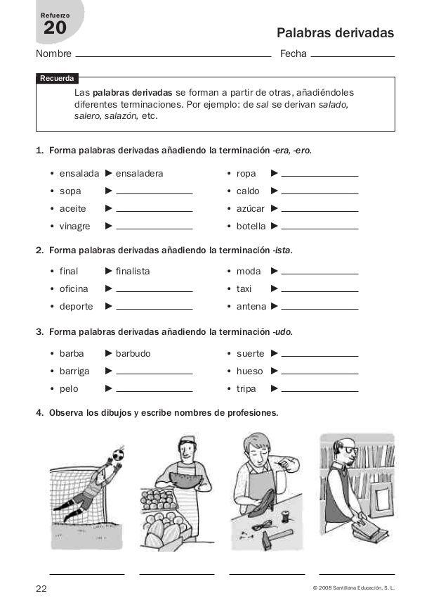 Lengua repaso y ampliación 3º primaria Santillana | desarrollo de la ...