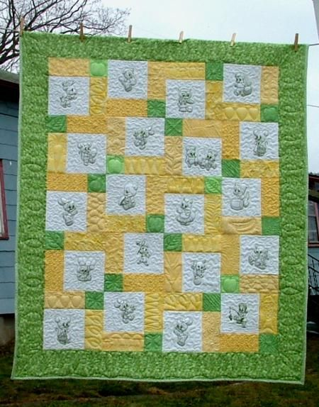Possible baby quilt pattern | Baby | Pinterest | Embroidery ... : designs for baby quilts - Adamdwight.com