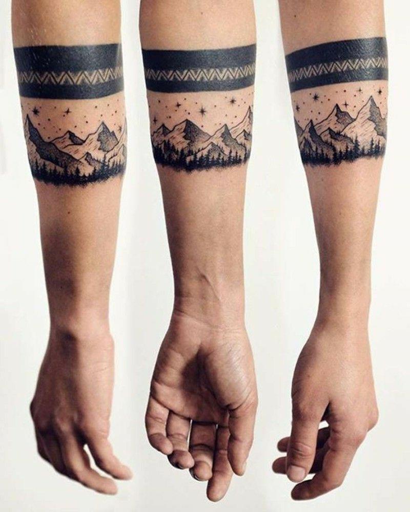 Armband Tattoo Schwarz Gebirgen Tatuajes Pinterest Tattoos