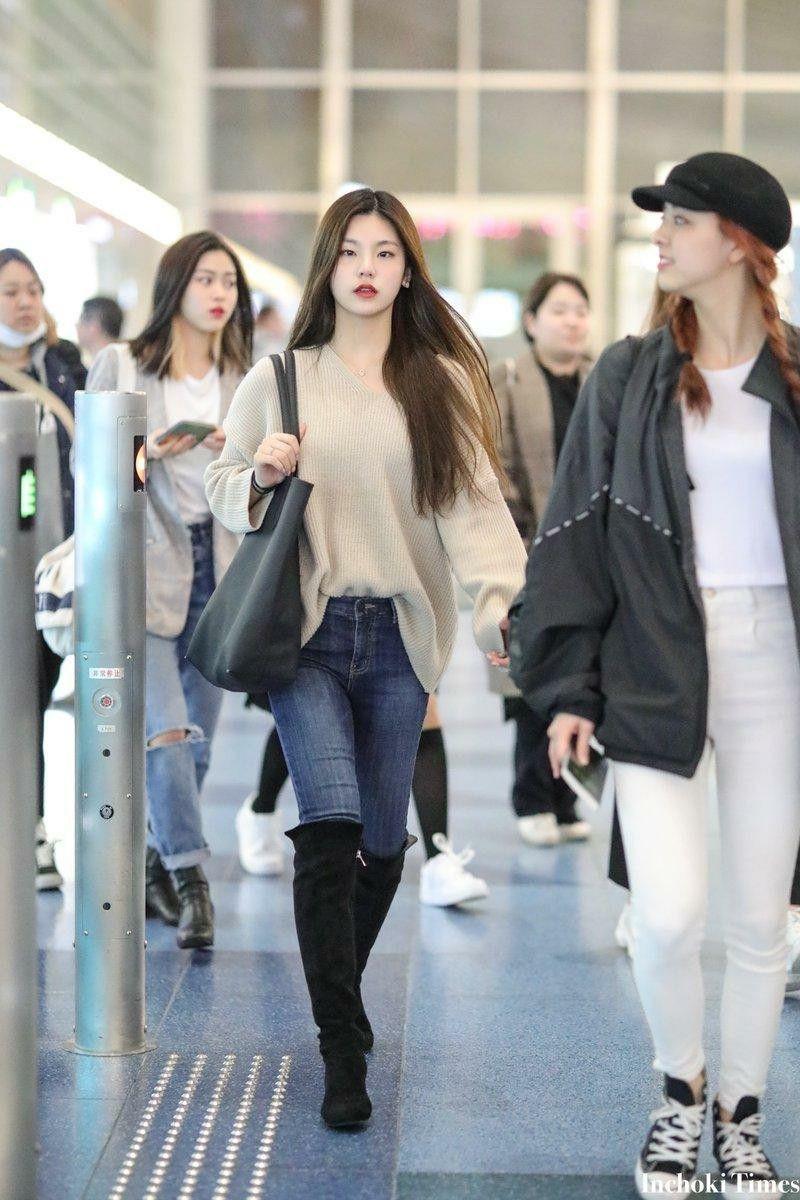 Itzy Yeji 190331 Korean Airport Fashion Airport Fashion Kpop Kpop Fashion