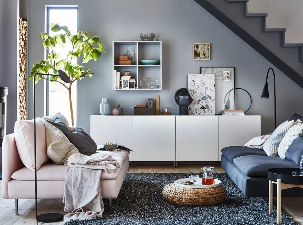 8 Of The Coziest Living Room Ideas To Steal From Ikea Apartment Living Room Ikea Living Room Living Room Storage