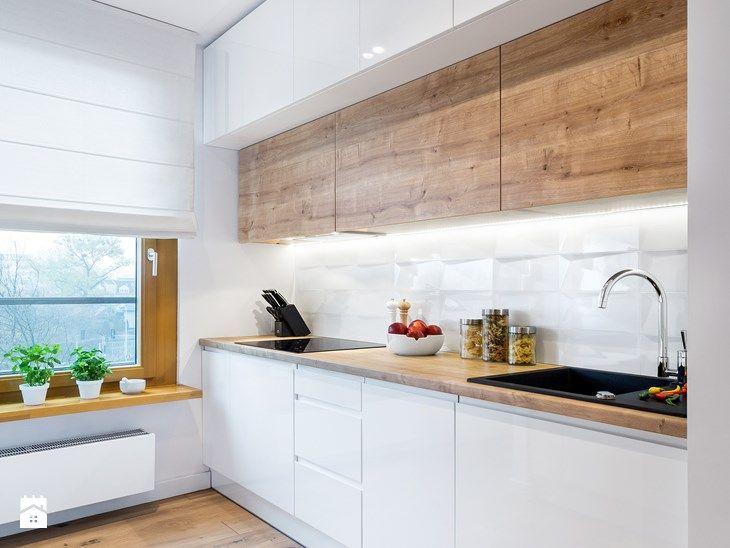 Szafki Az Do Sufitu 3 Komfinacja Bioly Lak Dyha Kitchen Room Design Kitchen Decor Home Decor Kitchen