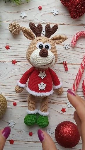 Reindeer crochet pattern #crochetamigurumi You buy a crochet toy pattern reindee…