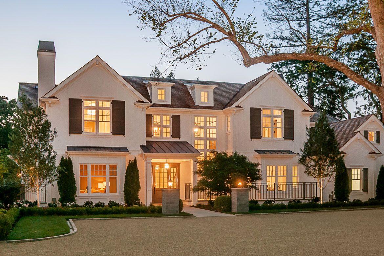 214 Atherton Avenue Atherton Home Beautiful Houses White