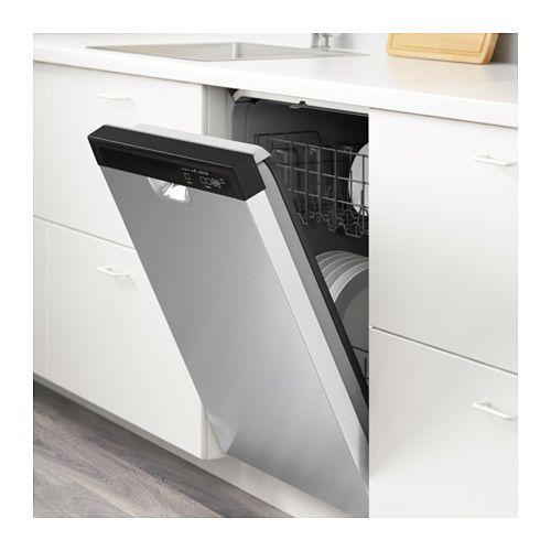 Ikea Renlig Gray Stainless Steel Built In Dishwasher Built In