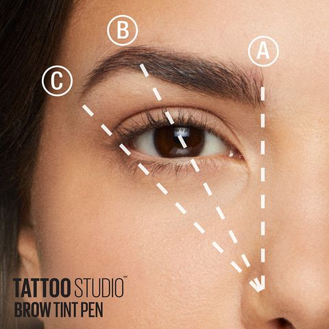 Maybelline TattooStudio Brow Tint Pen in 2019 | Makeup | Brow