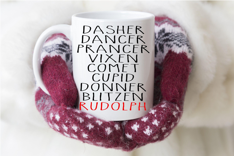 Personalized Christmas Coffee Mug Farmhouse Style Mug by