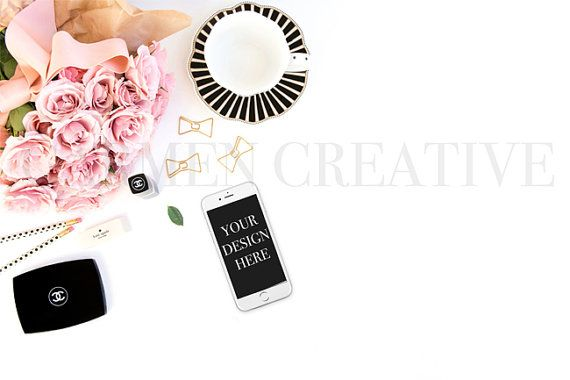 iPhone Styled Stock Photography Pink and by CarmenCreativeShop