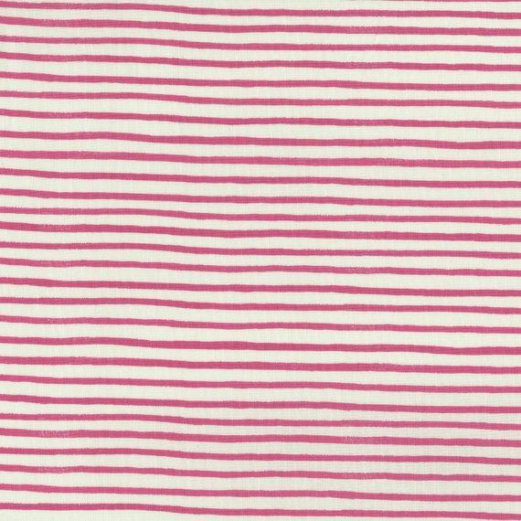 Cotton and Steel English Garden Pink Stripe Rifle Paper Co  is part of English garden Painting - threedandelionsInstagram @threedandelionsshop