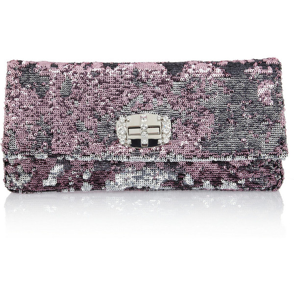 Miu Miu Two-tone sequined shoulder bag ($1,195) ❤ liked on Polyvore