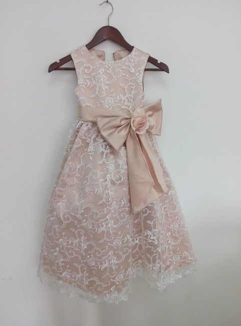 240606d05e6 champagne Taffeta Flower Girls Dresses Dancing Lace Party Dress Birthday  Custom Girls Dress With This dress could be custom made