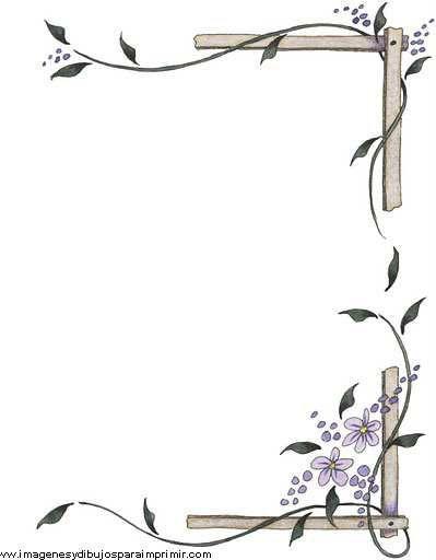Borde de flores para decorar folios pinteres for Decoraciones para hojas