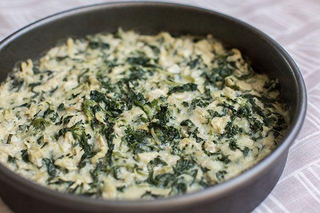 Dip de espinacas y alcachofas con queso