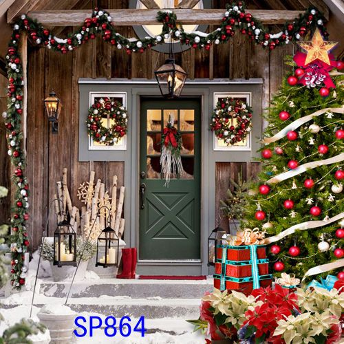 Details about Xmas Tree Snow Winter 10x10 FT CP PHOTO SCENIC BACKGROUND BACKDROP Sp864 #weihnachtsdekohauseingangaussen