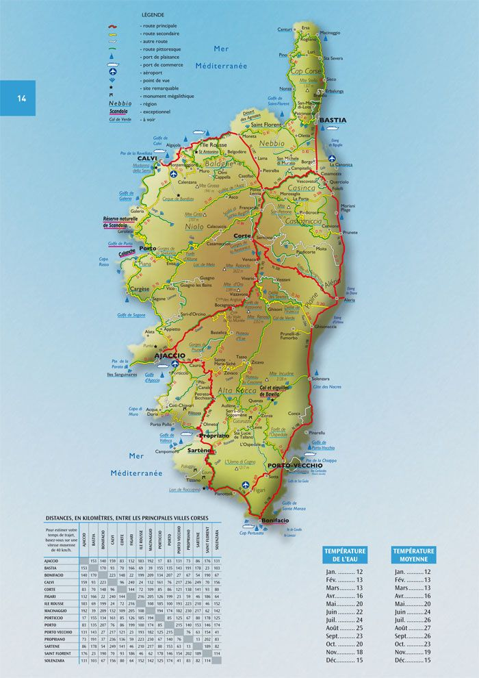 Carte Corse Ajaccio.Corse Carte Carte Route Corse Sicilfly