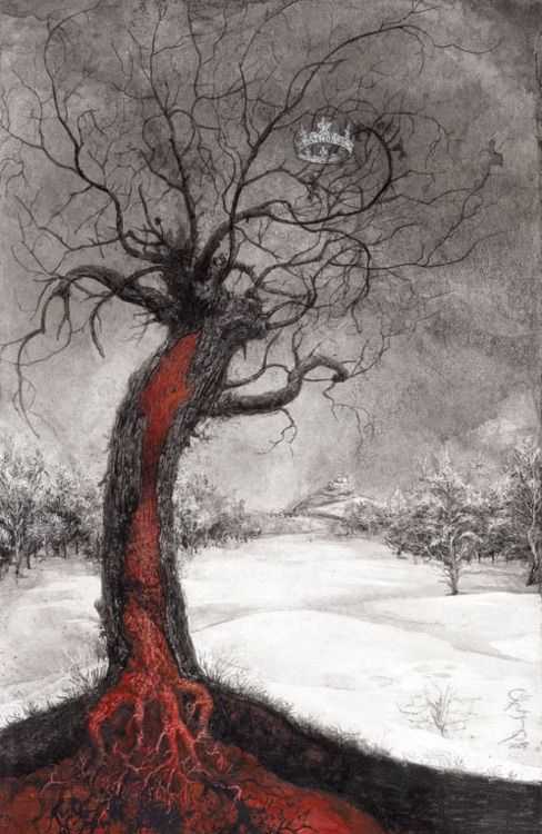 from The Bloody Countess book, illustrated by Santiago Caruso