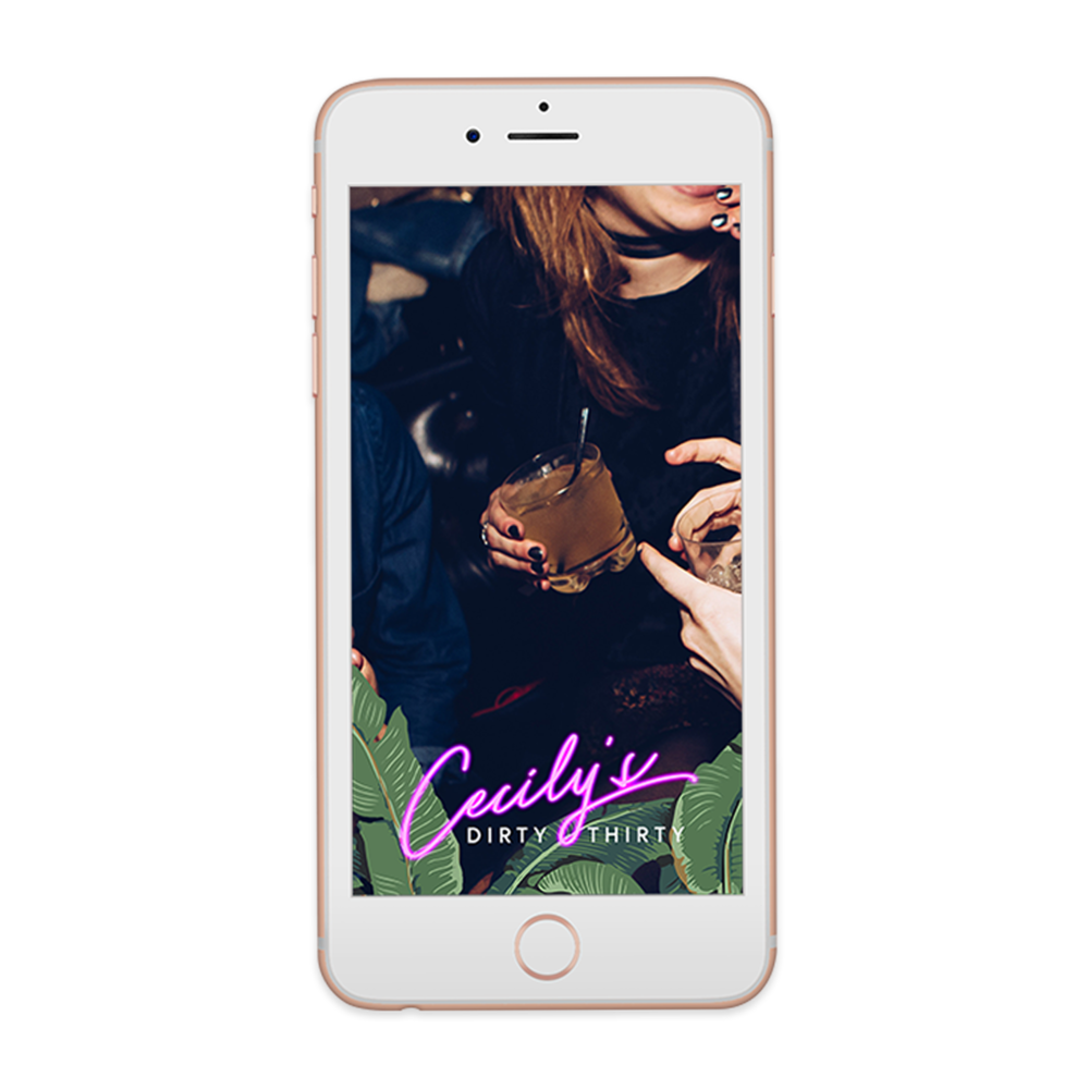 Tropical Neon Snapchat Geofilter Snapchat geofilters