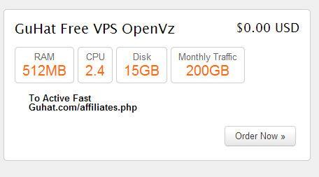 GuHat FREE VPS - Free OpenVZ VPS Hosting , Plus Control