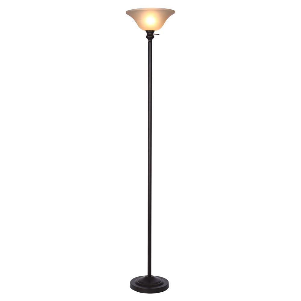 Hampton Bay T20 71 25 In Bronze Torchiere Floor Lamp Torchiere Floor Lamp Lamp Floor Lamp Bronze torchiere floor lamp