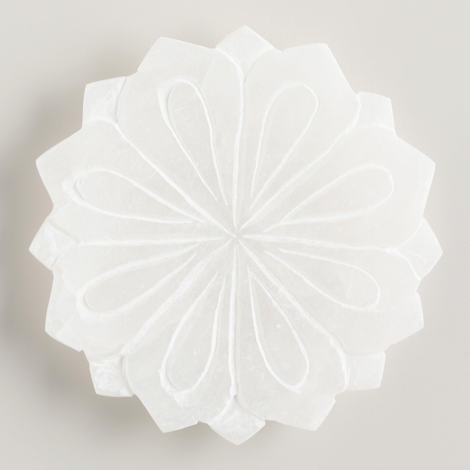 Alabaster Lotus Soap Dish Stone By World Market Bath