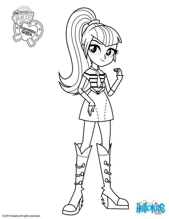 My Little Pony Equestria Girl Rainbow Rocks Fluttershy Boyama - ARCHIDEV