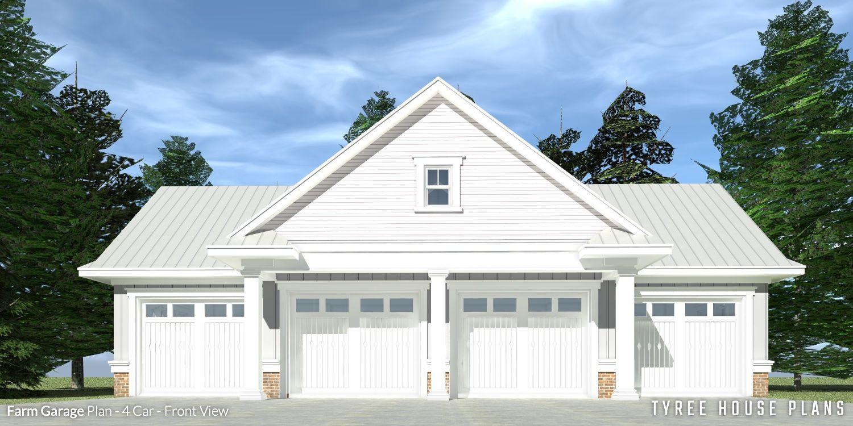 4 Car Farmhouse Garage Tyree House Plans Garage Door Design Farmhouse Garage Farmhouse Plans