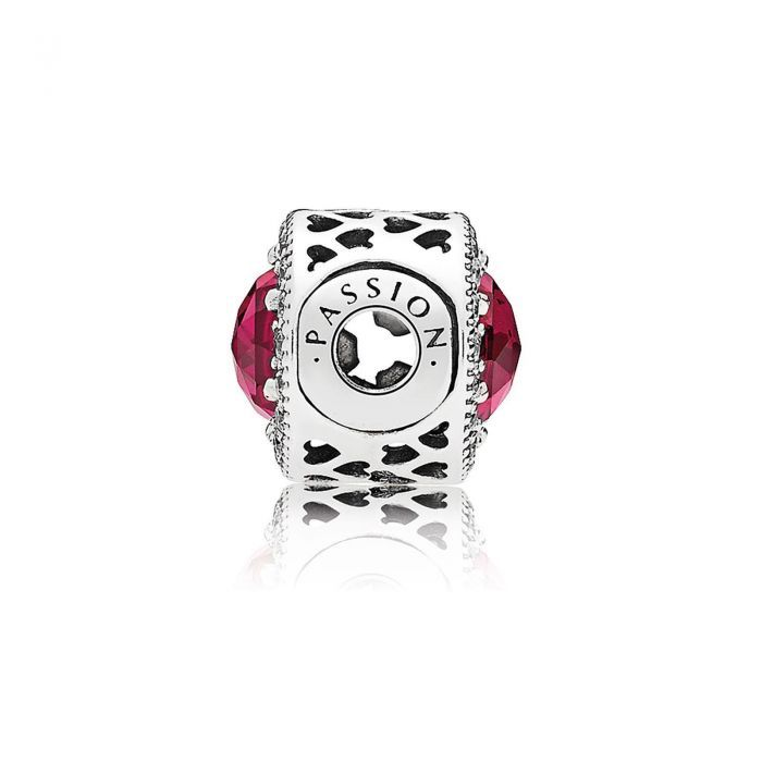 82c412113 PANDORA ESSENCE COLLECTION PASSION Charm, Synthetic Ruby & Clear Cubic  Zirconia
