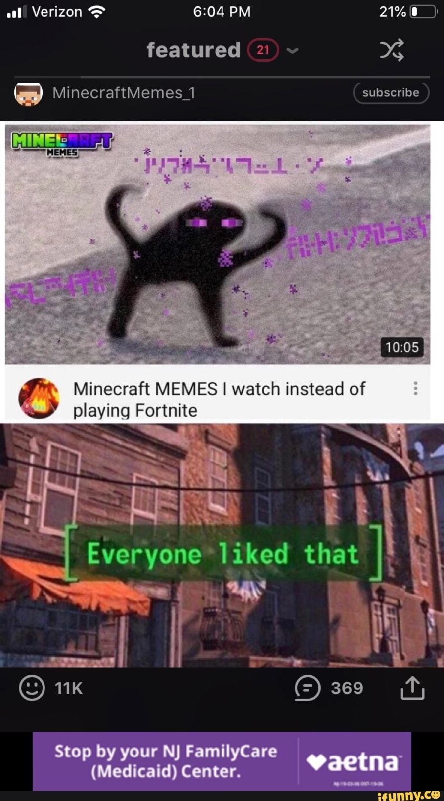 Minecraft Memes I Watch Instead Of Playing Fortnite Ifunny Minecraft Memes Memes Fortnite