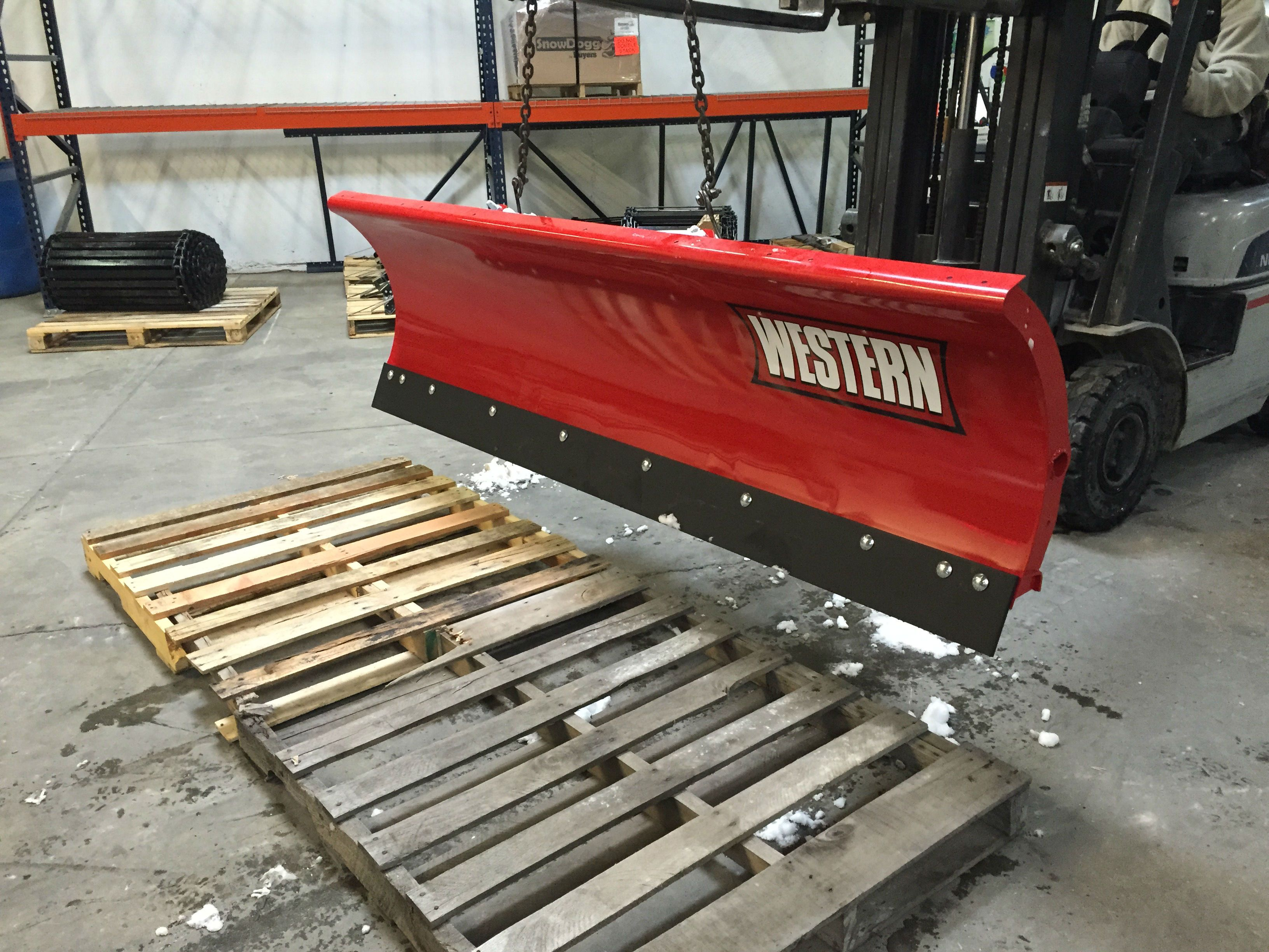 Western snow plow headed to its new home