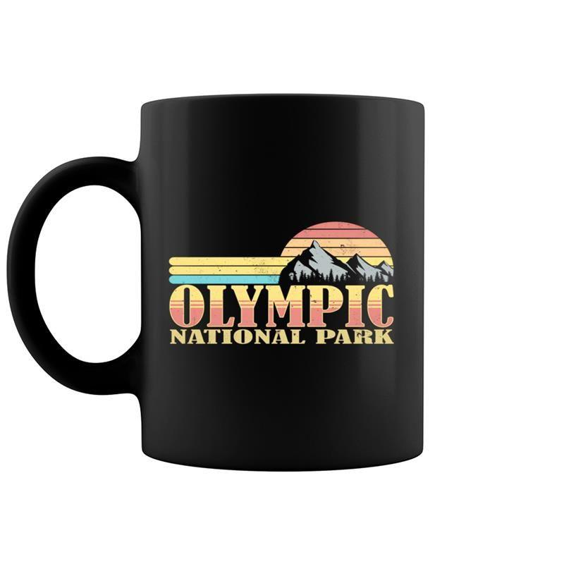Olympic National Park Washington Vintage Mountain Retro #nationalcoffeedayideas