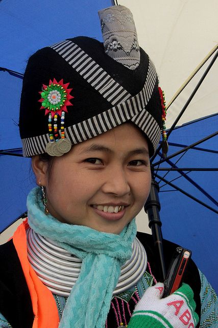 Hmong girl in Mon Chau province, Vietnam