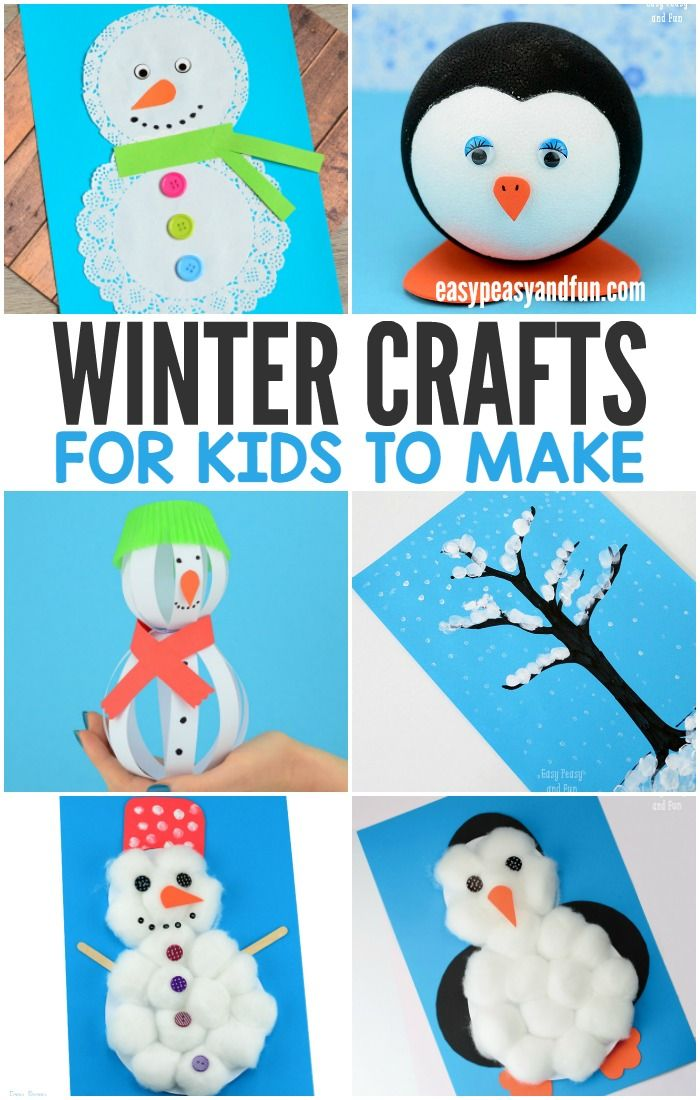 Winter Craft Ideas For Kids Easy Part - 49: Winter Crafts For Kids To Make - Fun Art And Craft Ideas For All Ages