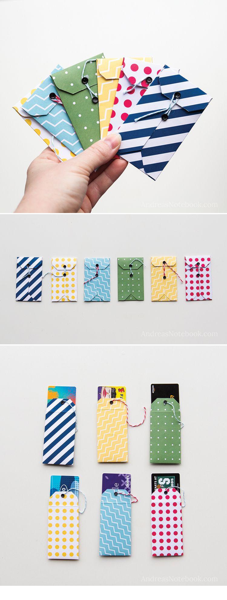 DIY gift card holder tutorials