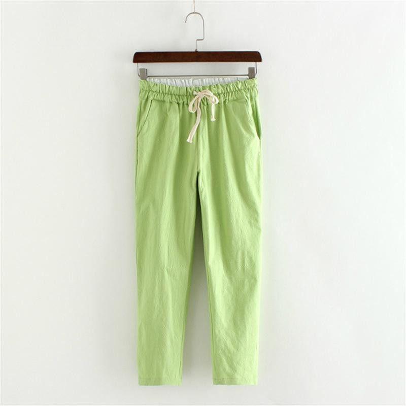 2016 spring summer harem pants women loose plus size solid casual Nine minutes pants Elastic Trousers Pencil Pants S-XXXL