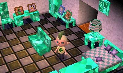 Modern Emerald Furniture New Leaf Animal Crossing Qr Creative Art
