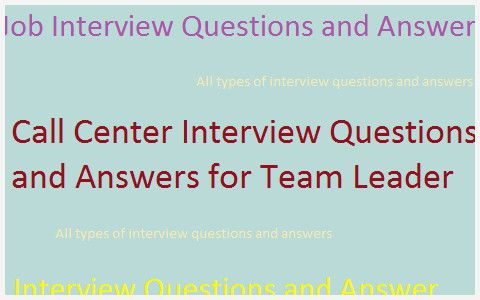 36 Example Call Center Manager Interview Questions ...