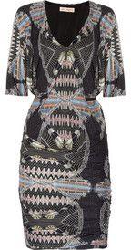 Mara HoffmanPrinted silk-jersey dress