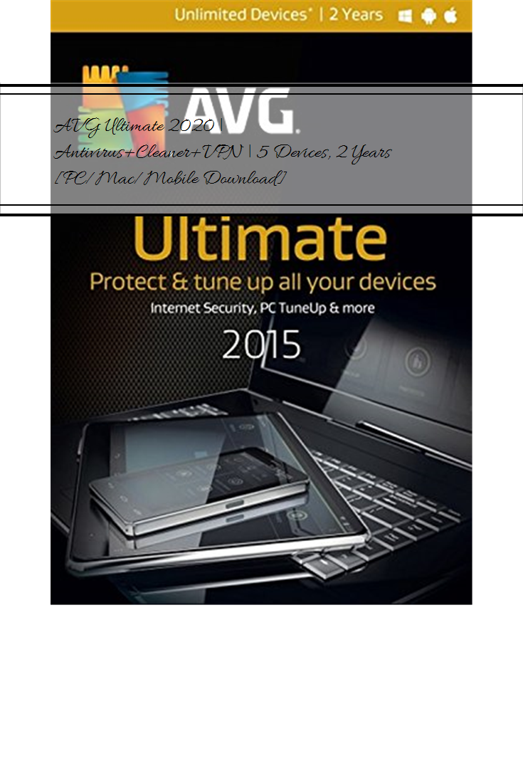 AVG Ultimate 2020 Antivirus+Cleaner+VPN 5 Devices, 2