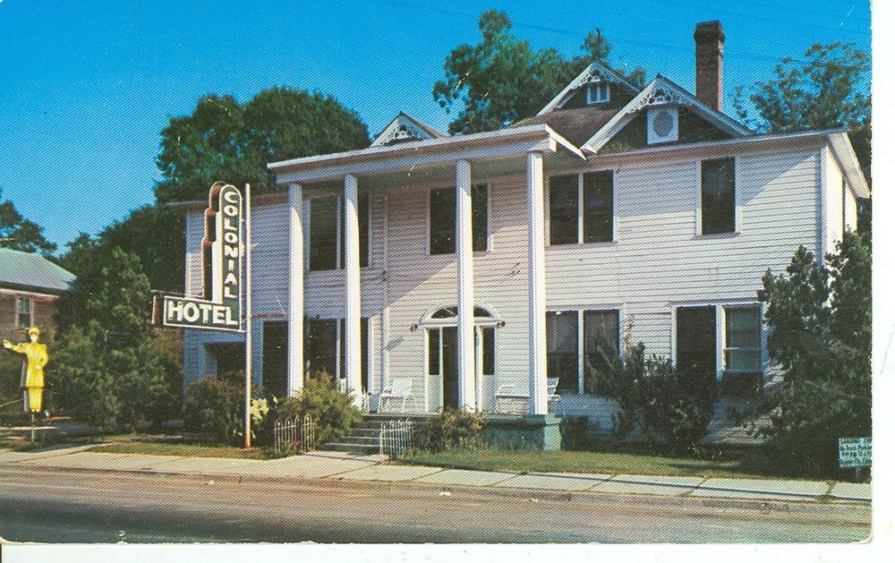 Florida Blountstown Colonial Hotel Pm 1957 Adv Fl Bmisc